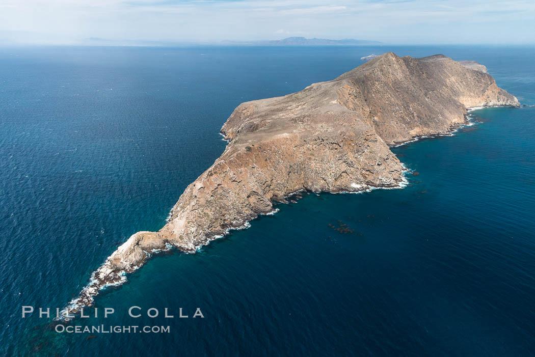 Anacapa Island, west end, aerial photo