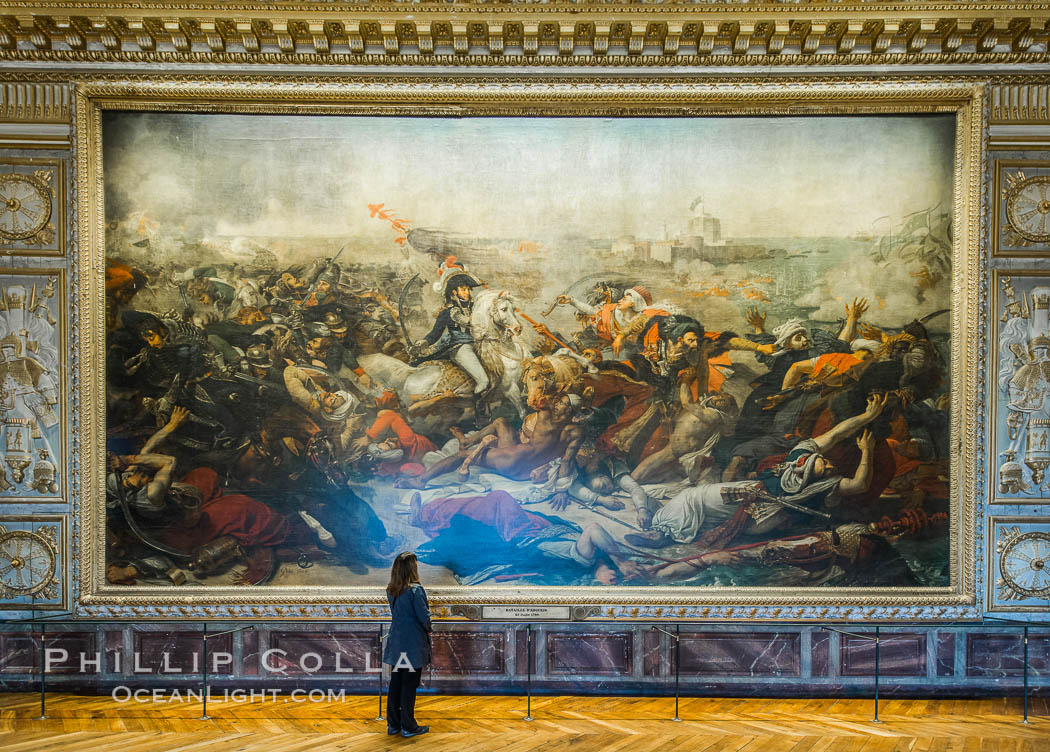 The Battle of the Nile, also known as the Battle of Aboukir Bay, in French as the Bataille d'Aboukir, Chateau de Versailles, Paris, France
