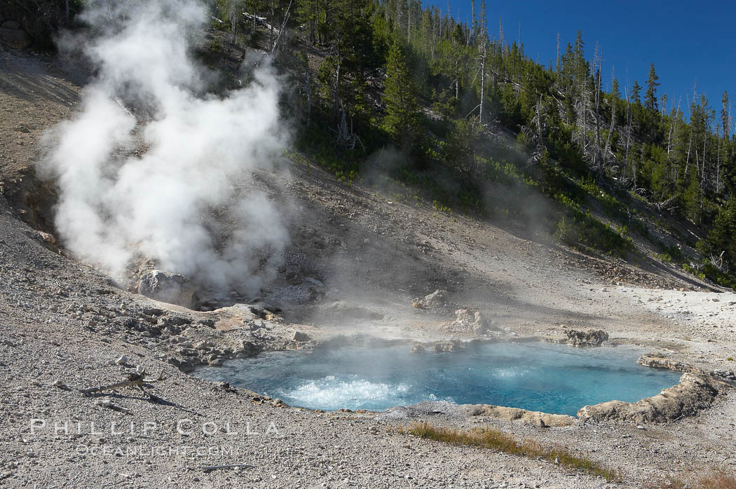 Beryl Spring is superheated with temperatures above the boiling point. Yellowstone National Park, Wyoming, USA, natural history stock photograph, photo id 13464