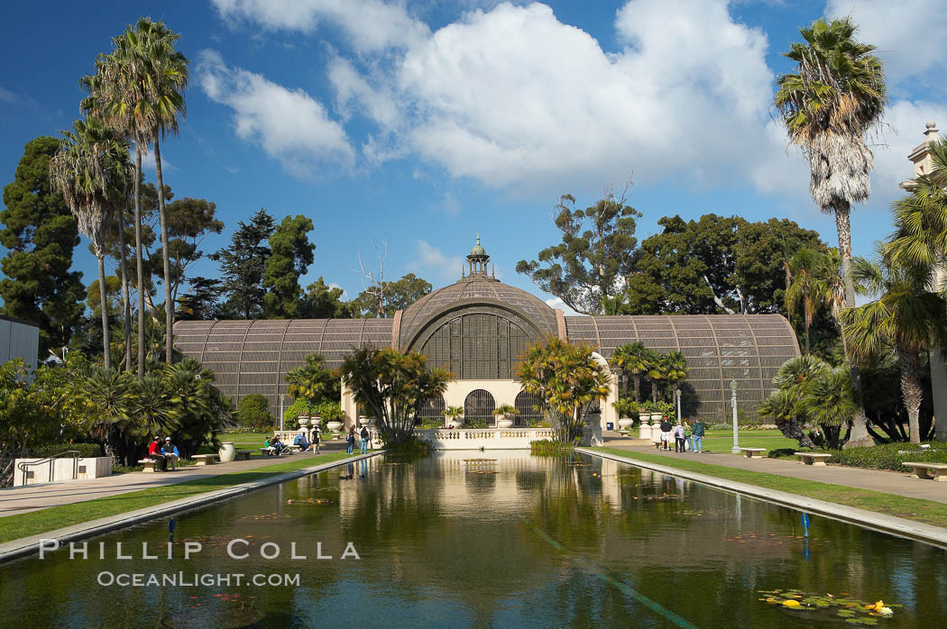 The Botanical Building In Balboa Park, San Diego. The Botanical Building,  At 250