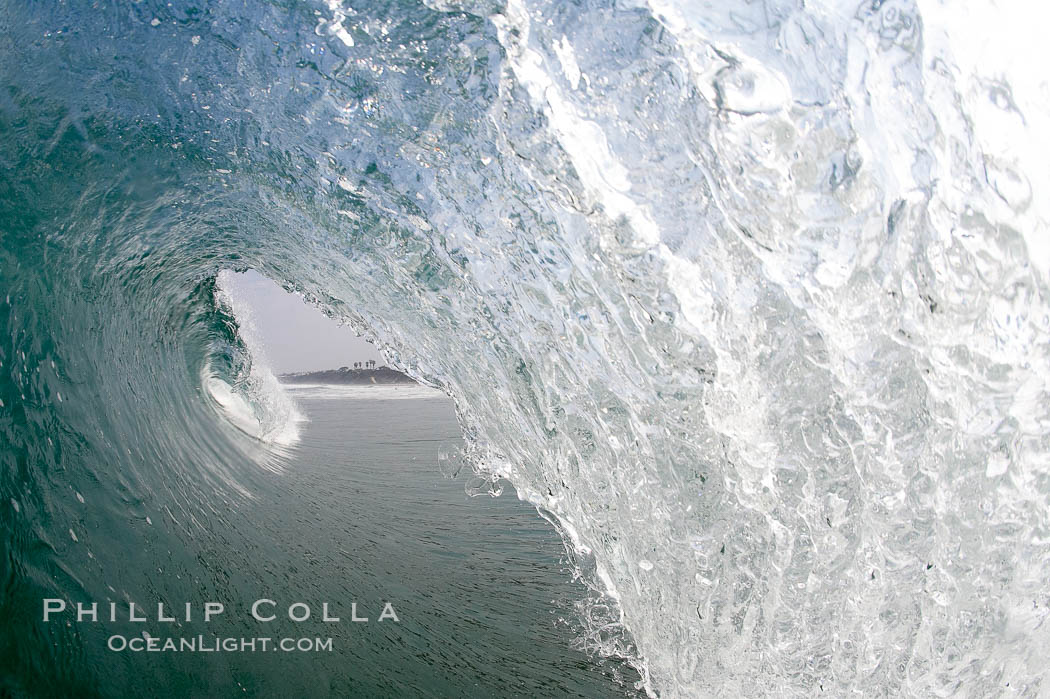 Breaking wave, morning surf, curl, tube. Ponto, Carlsbad, California, USA, natural history stock photograph, photo id 20888