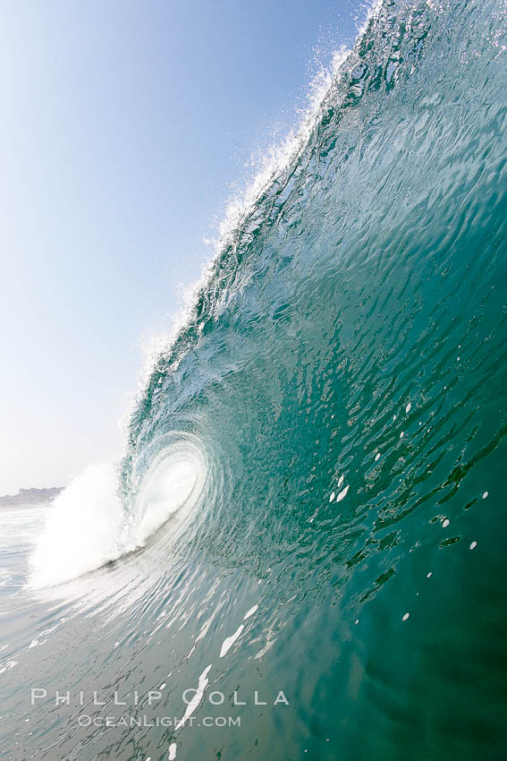 Breaking wave, morning surf, curl, tube.,  Copyright Phillip Colla, image #20887, all rights reserved worldwide.