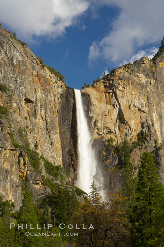 Bridalveil Falls. Yosemite National Park, California, USA, natural history stock photograph, photo id 12645