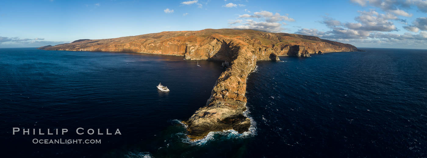 Cabo Pearce on Socorro Island, aerial photo, Revillagigedos Islands, Mexico, Socorro Island (Islas Revillagigedos)