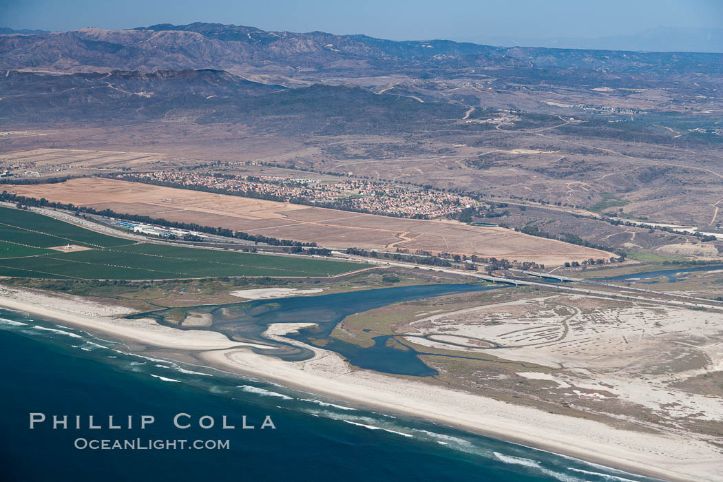 Camp Pendleton and Santa Margarita River, Pacific coastline, north of San Diego county and the city of Oceanside.  Marine Corps Base Camp Pendleton. Marine Corps Base Camp Pendleton, California, USA, natural history stock photograph, photo id 26000