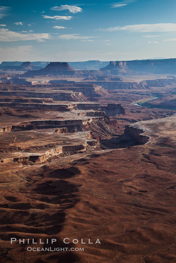 Soda Springs Basin from Green River Overlook, Island in the Sky, Canyonlands National Park, Utah
