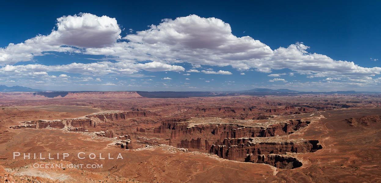 Canyonlands National Park panorama. Canyonlands National Park, Utah, USA, natural history stock photograph, photo id 27817