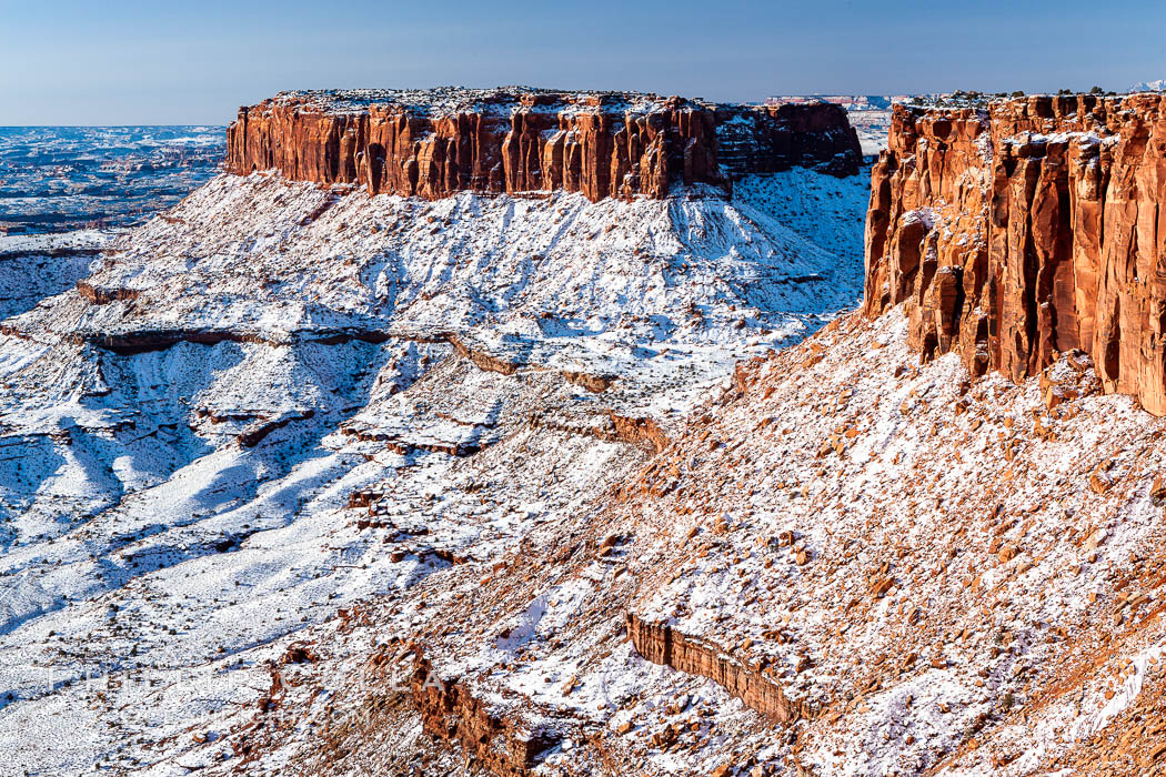 Canyonlands National Park, winter, viewed from Grandview Point.  Island in the Sky. Canyonlands National Park, Utah, USA, natural history stock photograph, photo id 18097
