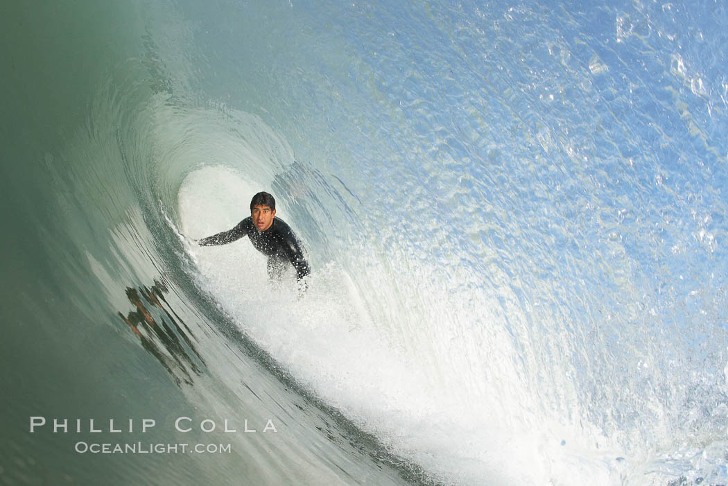 Mike Thomas, Cardiff, morning surf. Cardiff by the Sea, California, USA, natural history stock photograph, photo id 17880