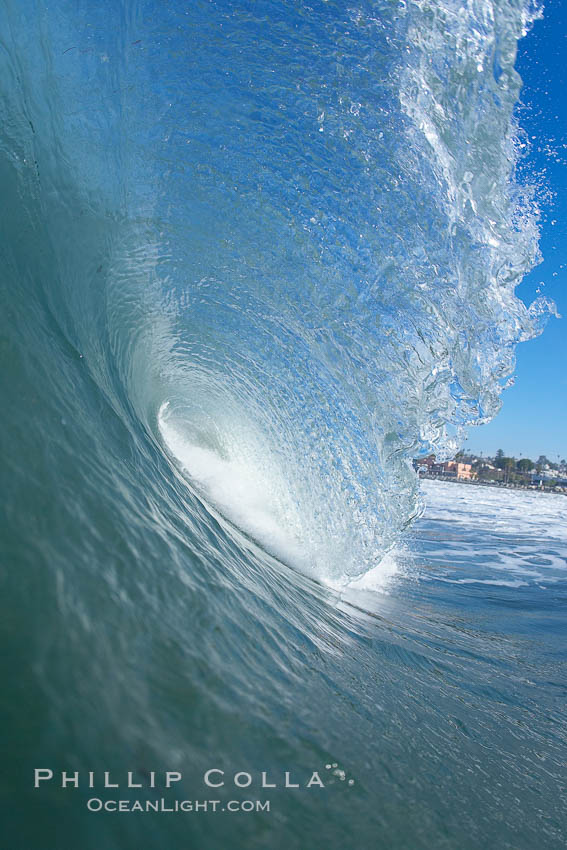 Cardiff, morning surf. Cardiff by the Sea, California, USA, natural history stock photograph, photo id 17889