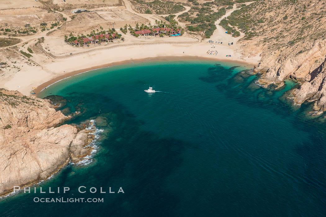 Bahia Santa Maria. Residential and resort development along the coast near Cabo San Lucas, Mexico. Cabo San Lucas, Baja California, Mexico, natural history stock photograph, photo id 28918
