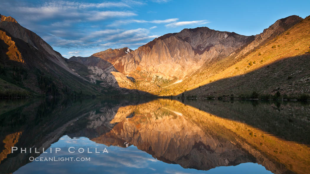 Convict Lake sunrise reflection, Sierra Nevada mountains