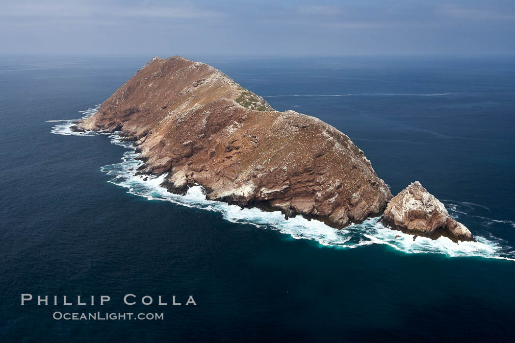 North Coronado Island, aerial photo, viewed from the south, Coronado Islands (Islas Coronado)