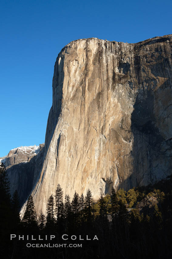 El Capitan eastern face, sunrise.,  Copyright Phillip Colla, image #22745, all rights reserved worldwide.