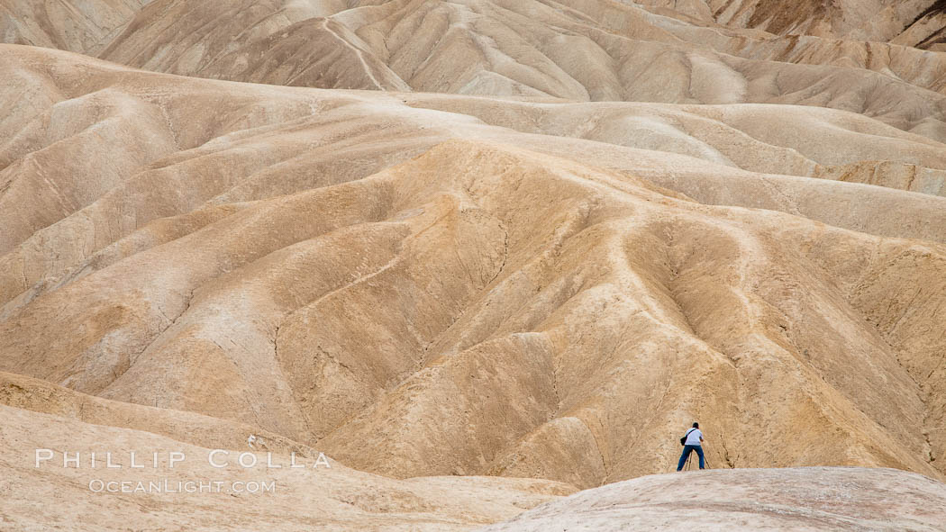 Eroded hillsides near Zabriskie Point and Gower Wash. Zabriskie Point, Death Valley National Park, California, USA, natural history stock photograph, photo id 25255