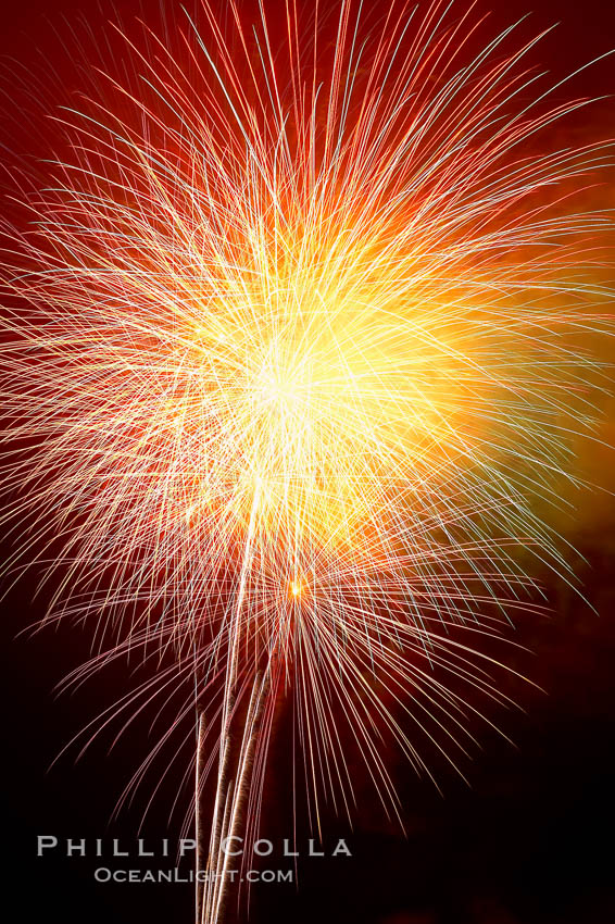 Fireworks.,  Copyright Phillip Colla, image #18992, all rights reserved worldwide.