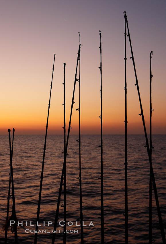 Fishing rods photo stock photo of fishing rods phillip for Santa barbara fishing report