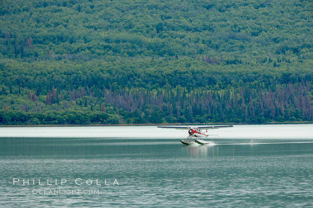 Image 17375, Floatplane landing on Brooks Lake. Brooks Lake, Katmai National Park, Alaska, USA