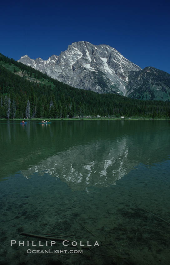 Image 07403, Mount Moran rises above String Lake. String Lake, Grand Teton National Park, Wyoming, USA