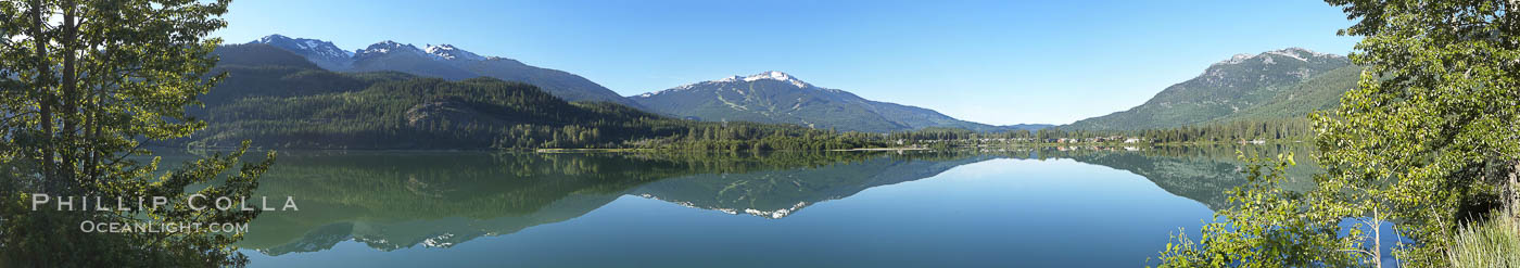 Green Lake panorama, Whistler, British Columbia, Canada