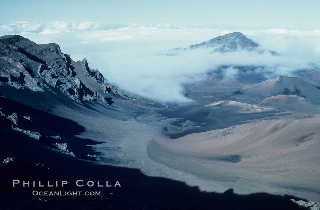 Haleakala Volcano Crater Photo, Stock Photo of Haleakala volcano ...