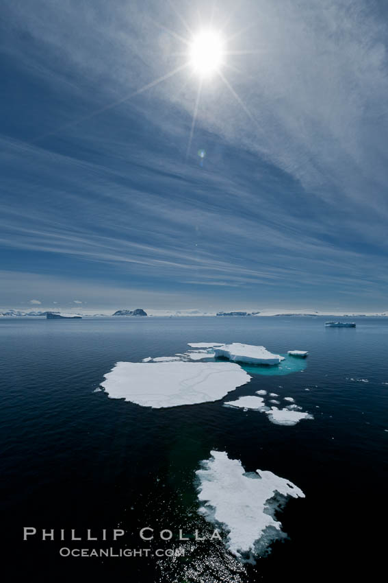 Ice, ocean, clouds and sun, Antarctica, Antarctic Sound