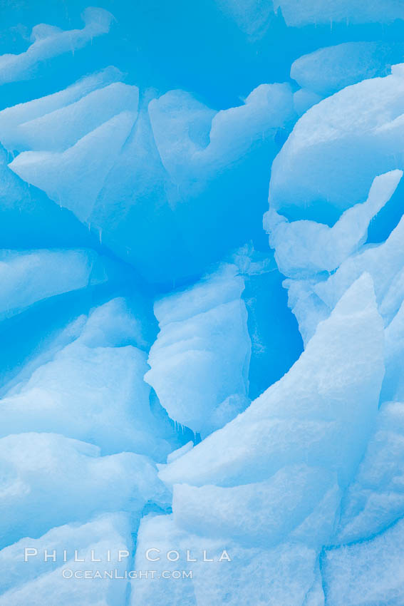 Iceberg detail.  Cracks and melt patterns.  Blue ice. Brown Bluff, Antarctic Peninsula, Antarctica, natural history stock photograph, photo id 24858