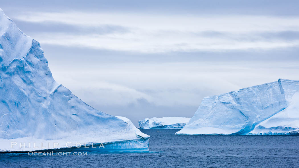 Icebergs and ice near Paulet Island. Paulet Island, Antarctic Peninsula, Antarctica, natural history stock photograph, photo id 26357