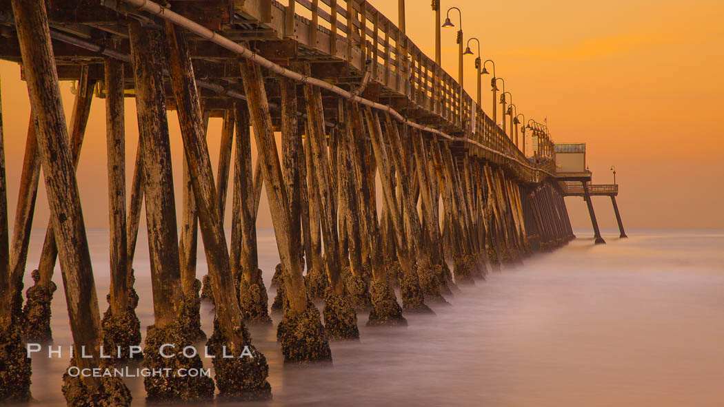 Imperial Beach pier at sunrise,