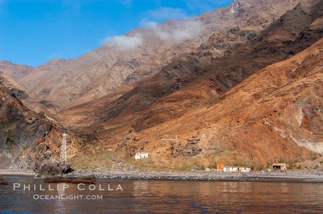 Lighthouse church prison shack photo stock photo of for Guadalupe island fishing