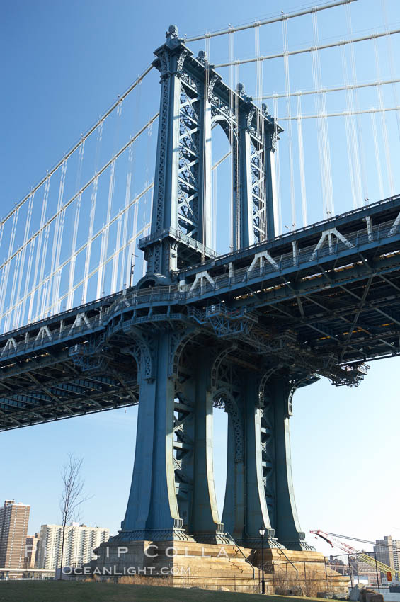 Manhattan Bridge viewed from Brooklyn.,  Copyright Phillip Colla, image #11054, all rights reserved worldwide.