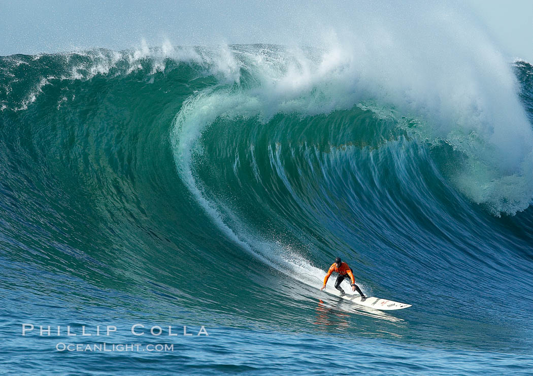 Brock Little, final round, Mavericks surf contest (third place), February 7, 2006. Mavericks, Half Moon Bay, California, USA, natural history stock photograph, photo id 15300
