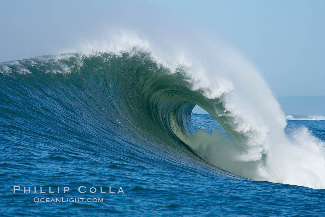 The wave.  Mavericks surf contest, February 7, 2006, Half Moon Bay, California