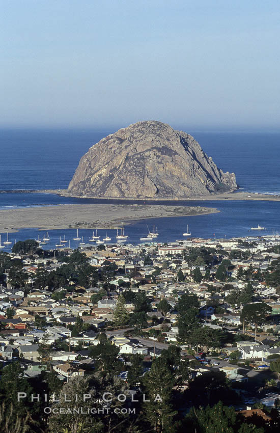 Image 06444, Morro Rock and Morro Bay. Morro Bay, California, USA