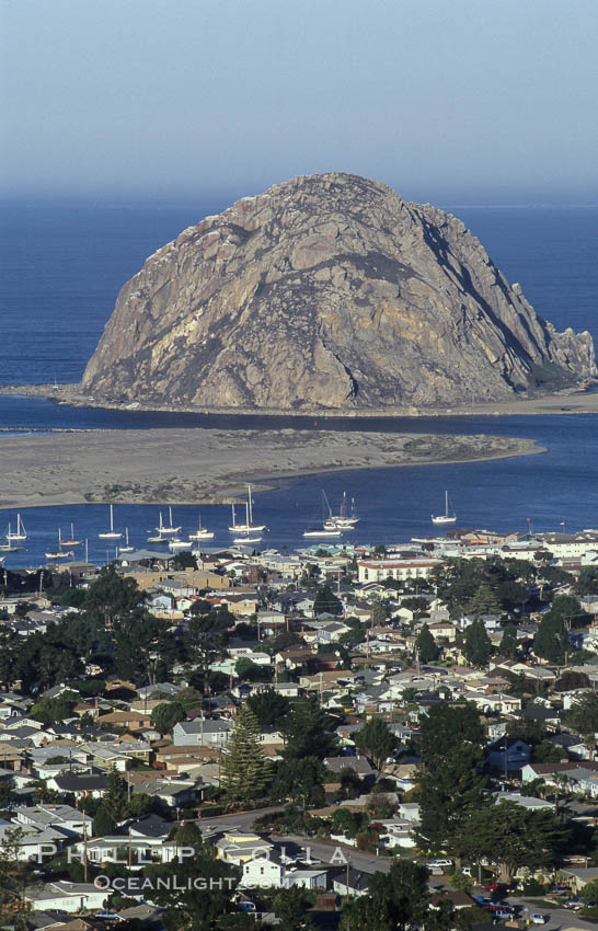 Morro Rock and Morro Bay.,  Copyright Phillip Colla, image #06443, all rights reserved worldwide.