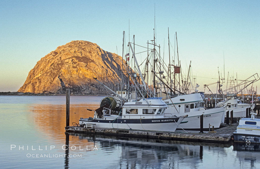 Morro rock morro bay photo stock photo of morro rock for Morro bay fishing