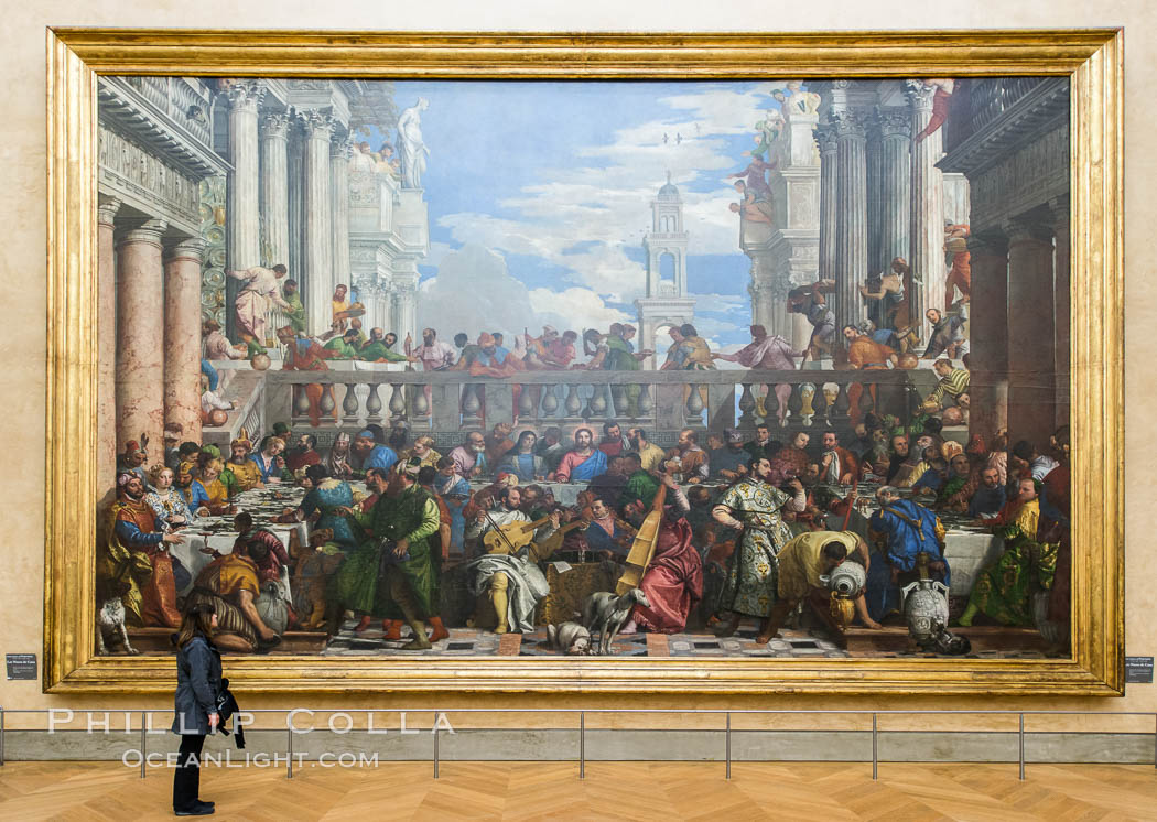Les Noces de Cana, The Wedding at Cana, by Paolo Veronese. Musee du Louvre, Paris, France