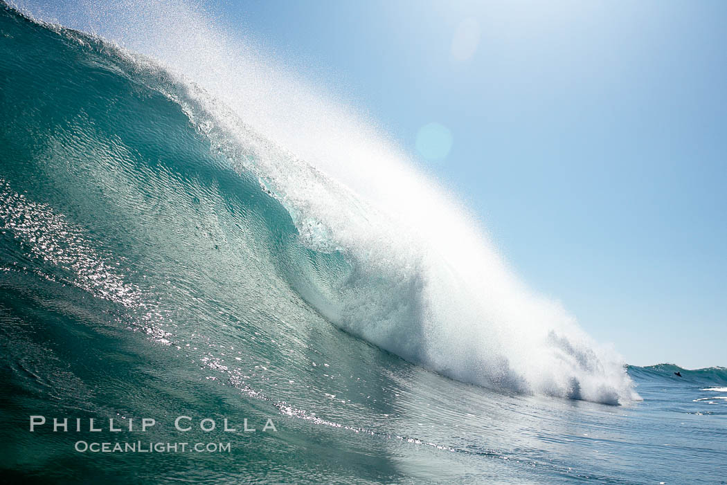 Wave breaking, tube, Newport Beach.,  Copyright Phillip Colla, image #16803, all rights reserved worldwide.