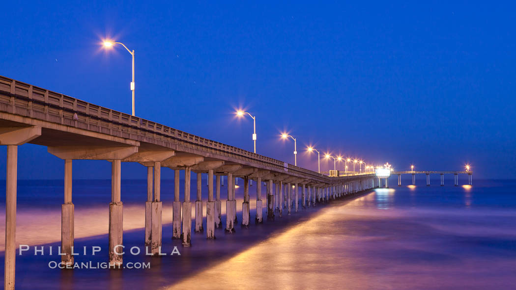Ocean Beach Pier, also known as the OB Pier or Ocean Beach Municipal Pier, is the longest concrete pier on the West Coast measuring 1971 feet (601 m) long. San Diego, California, USA, natural history stock photograph, photo id 27384