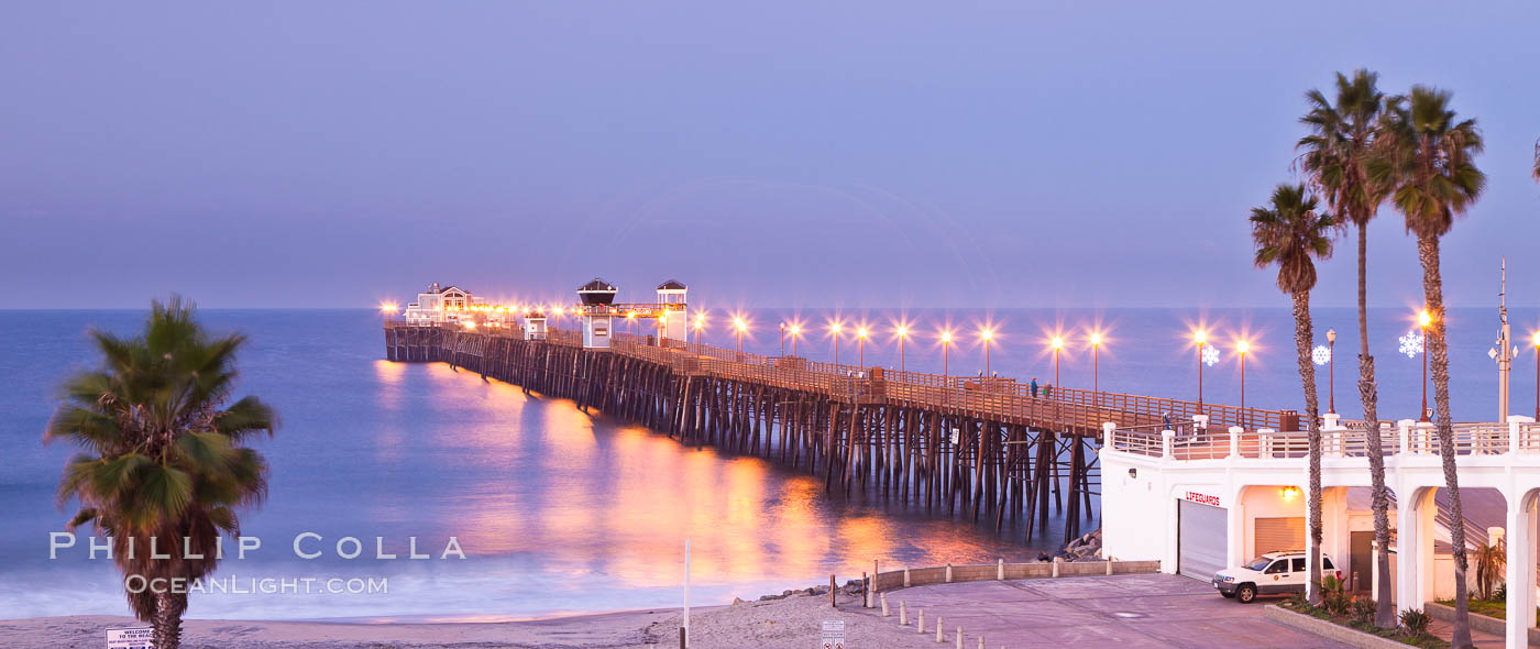 Oceanside Pier at sunrise, dawn, morning. Oceanside, California, USA, natural history stock photograph, photo id 27231