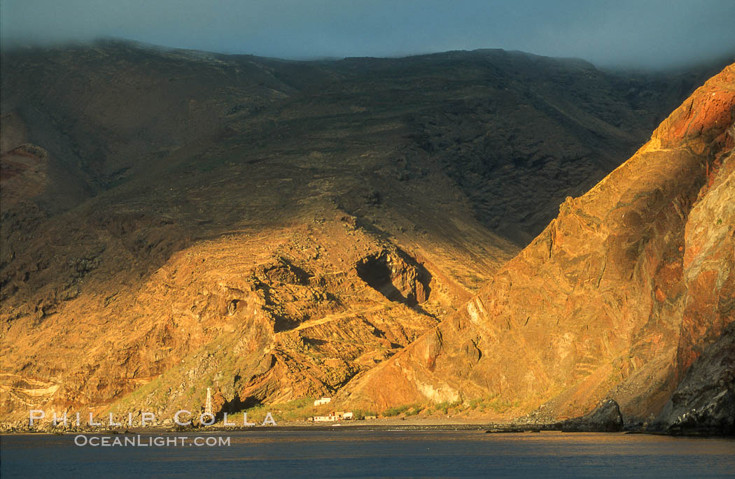 Sunrise on old church and prison isla guadalupe photo for Guadalupe island fishing