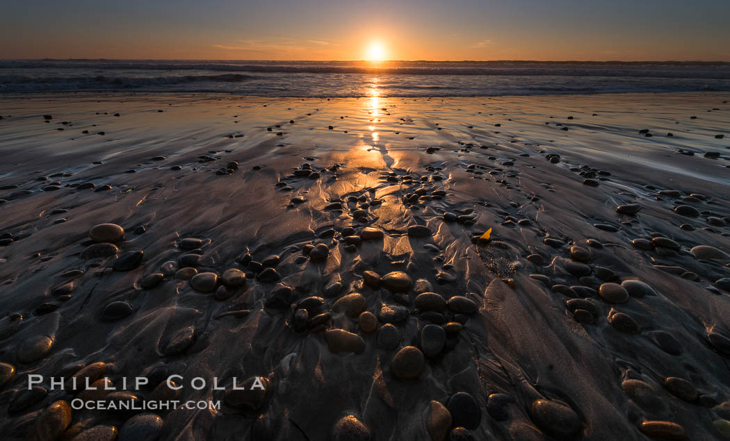 Ponto Sunset, South Carlsbad State Beach. California, USA, natural history stock photograph, photo id 30384