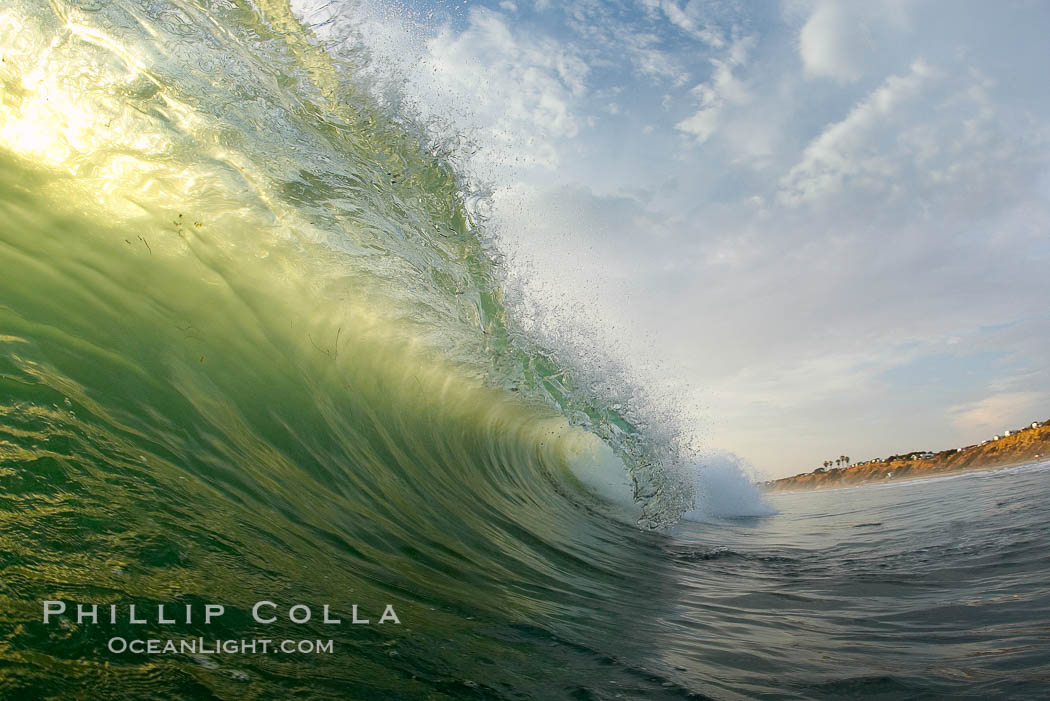 Sunset wave.,  Copyright Phillip Colla, image #19395, all rights reserved worldwide.