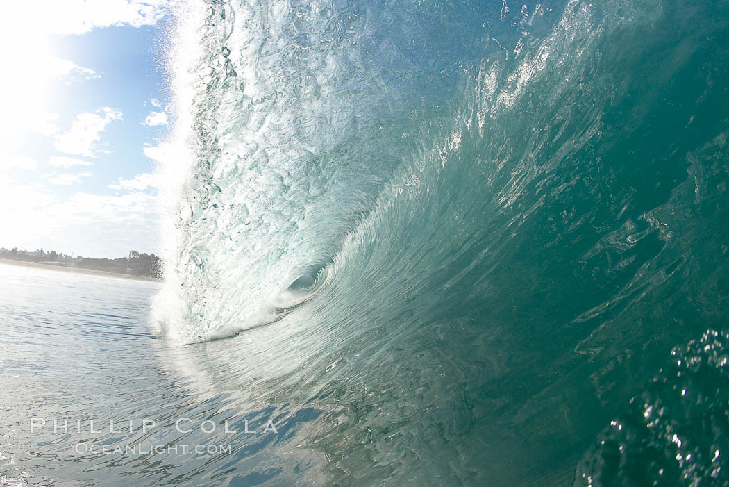 Breaking wave, Ponto, South Carlsbad, California.,  Copyright Phillip Colla, image #17394, all rights reserved worldwide.