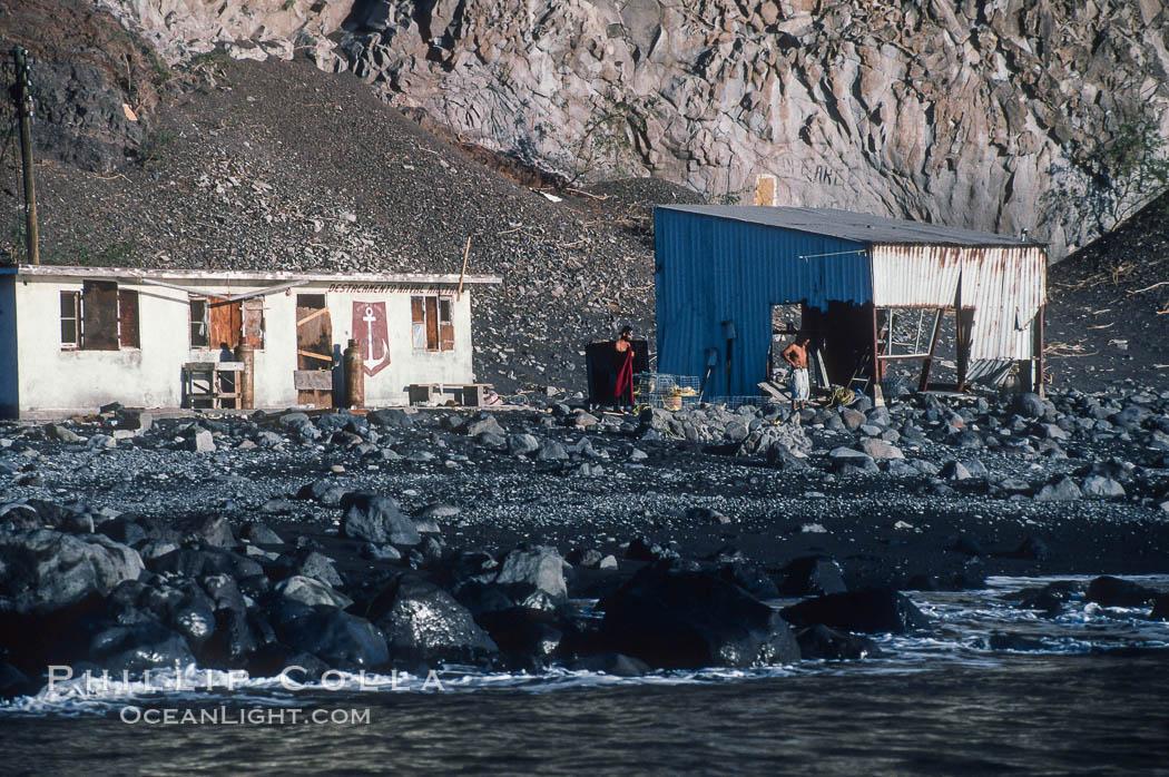 Primitive fisherman 39 s shack photo stock photo of for Guadalupe island fishing