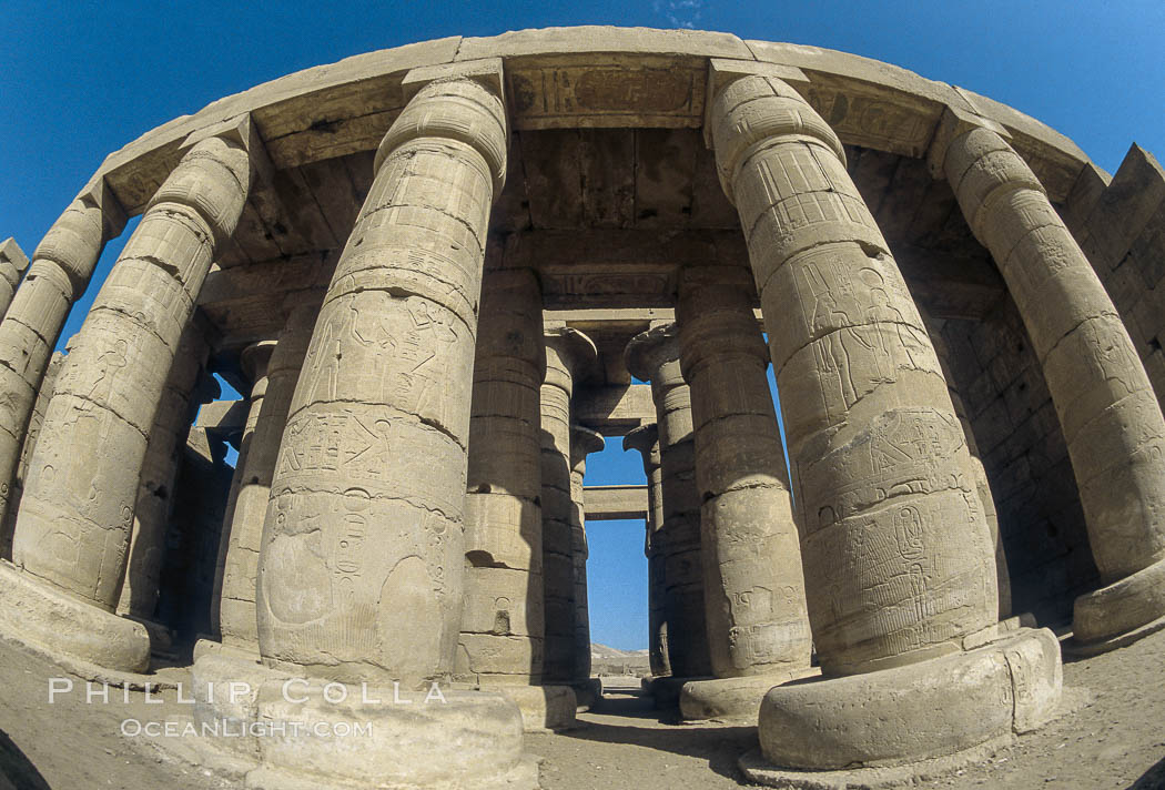Ramesseum. Luxor, Egypt, natural history stock photograph, photo id 02590
