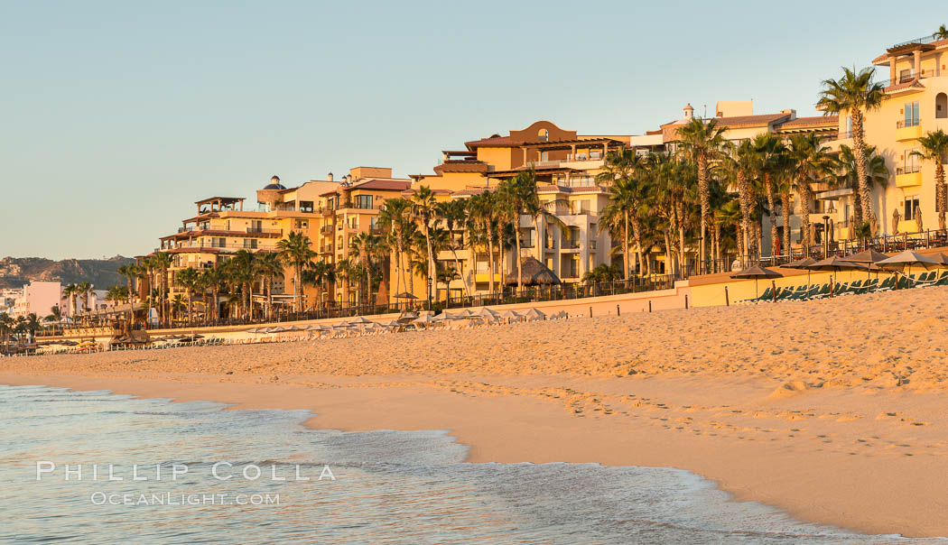 Resort hotels on the beach in Cabo San Lucas