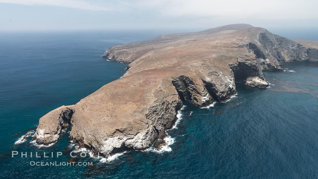 Santa Barbara Island, aerial photograph. Santa Barbara Island, California, USA, natural history stock photograph, photo id 29361