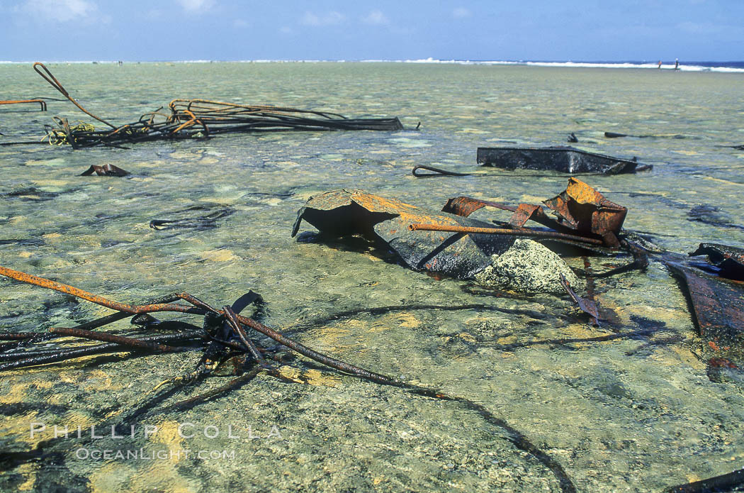 Wreck of F/V Jin Shiang Fa. Rose Atoll National Wildlife Sanctuary, American Samoa, USA, natural history stock photograph, photo id 00711