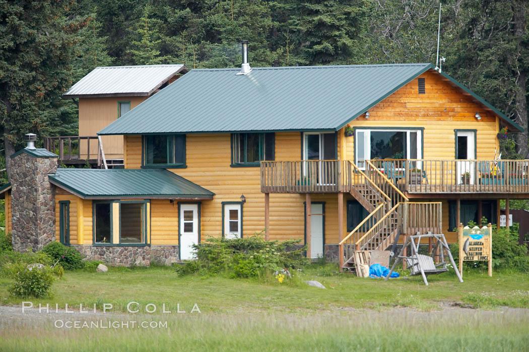 Silver Salmon Creek Lodge. Lake Clark National Park, Alaska, USA, natural history stock photograph, photo id 19071